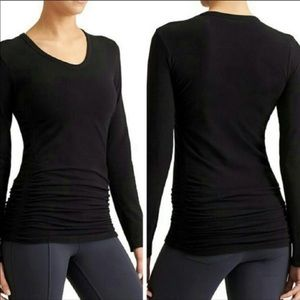 Athleta black ruched top